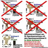 Spardosenschlssel 5 neu: 5x Stck Metallschlssel - Bild vergrern 
