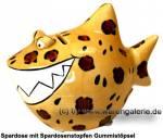 Spardose Spartier Design Leoparden-Hai Keramik Marke KCG Maße ca.: L= 14,5cm