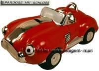 Spardose Auto Cabrio rot Keramik mit Spardosenschloss und Schlüssel Maße ca.: L= 20 cm - Bild vergrößern