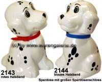 Spardose Hund Dalmatiner Farbvariante auswählen mit großen Spardosenschloss Maße ca.: H= 13  cm - Bild vergrößern