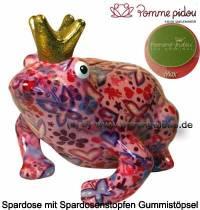 Spardose Spartier Frosch Max rosa Keramik Marke Pomme Pidou Maße ca.: L= 18 cm - Bild vergrößern
