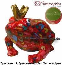 Spardose Spartier Frosch Max rot Keramik Marke Pomme Pidou Maße ca.: L= 18 cm - Bild vergrößern