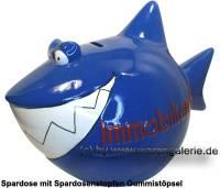 Spardose Spartier 3D Design Immobilien-Hai Keramik Monsterhai Marke KCG Maße ca.: L=  28 cm - Bild vergrößern