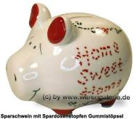 Sparschwein 3D Design Home Sweet Home weiß Keramik Marke KCG Maße ca.: L= 12,5 cm - Bild vergrößern