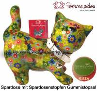 Spardose Spartier Katze Kitty hellgrün Keramik Marke Pomme Pidou Maße ca.: L= 19 cm - Bild vergrößern
