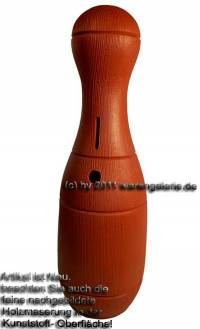 Spardose Kegel braun Kegelspardose mit Spardosenschloss und Spardosenschlüssel Maße ca.: H= 33 cm - Bild vergrößern