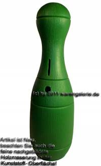 Spardose Kegel grün Kegelspardose mit Spardosenschloss und Spardosenschlüssel Maße ca.: H= 33 cm - Bild vergrößern