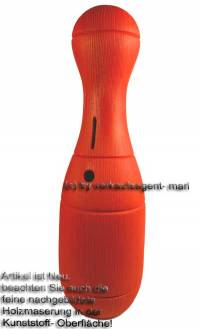 Spardose Kegel rot Kegelspardose mit Spardosenschloss und Spardosenschlüssel Maße ca.: H= 33 cm - Bild vergrößern