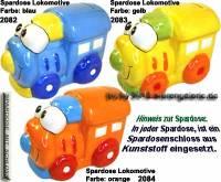 Spardose Lokomotive Keramik Farbvariante auswählen mit Spardosenschloss Maße ca.: L= 16 cm - Bild vergrößern