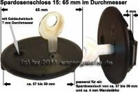 Spardosenschloss 15: 65mm 1 Stück Maße: Ø= 65 mm - Bild vergrößern