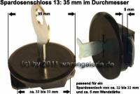 Spardosenschloss 13: 35mm 1 Stück Maße: Ø= 35 mm - Bild vergrößern