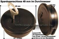 Spardosenschloss 49mm 1 Stück Maße: Ø= 49 mm - Bild vergrößern
