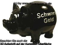 Sparschwein Riesen Monster XXL -Schwarz - Geld- schwarz mit Spardosenschloss Maße ca.: L= 30 cm - Bild vergrößern