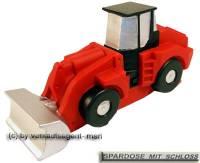 Spardose Bagger Fahrzeug mit Spardosenschloss und Metall- Spardosenschlüssel Maße ca.: L= 18,5 cm - Bild vergrößern