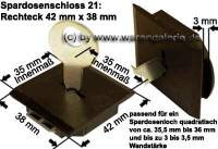 Spardosenschloss 21: Rechteck 1 Stück Maße: 42 mm x 38 mm - Bild vergrößern