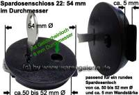 Spardosenschloss 22: 54mm 1 Stück Maße: Ø= 54 mm - Bild vergrößern