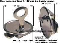 Spardosenschloss 4: 39mm 1 Stück Maße: Ø= 39 mm - Bild vergrößern