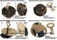 Spardosenschloss Set 3: 39+42mm Schlösser 2 Stück Maße: Ø= 39 mm + 42 mm - Bild vergrößern