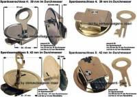 Spardosenschloss Set 5: 39+42mm Schlösser 2 Stück Maße Ø= 39 mm +42 mm - Bild vergrößern
