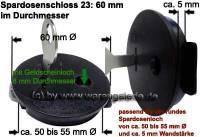 Spardosenschloss 23: 60mm 1 Stück Maße: Ø= 60 mm - Bild vergrößern