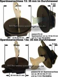 Spardosenschloss Set 7: 35mm Schlösser 2 Stück Maße: Ø= 35 mm - Bild vergrößern