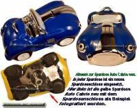 Spardose Auto Cabrio blau Keramik mit Spardosenschloss und Schlüssel Maße ca.: L= 20 cm - Bild vergrößern
