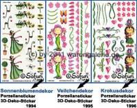 Porzellansticker 3-D-Sticker mit Dekor Blumen Safuri Dekorvariante selbst auswählen - Bild vergrößern
