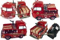 Spardose Feuerwehrauto Nostalgie Kunststein mit Spardosenverschluss Maße ca.: L= 20 cm - Bild vergrößern