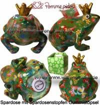 Spardose Spartier Frosch Max grün Keramik Marke Pomme Pidou Maße ca.: L= 18 cm - Bild vergrößern