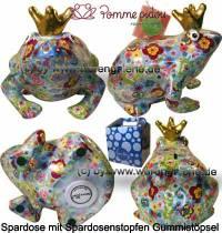 Spardose Spartier Frosch Max hellblau Keramik Marke Pomme Pidou Maße ca.: L= 18 cm - Bild vergrößern