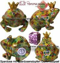Spardose Spartier Frosch Max hellgrün Keramik Marke Pomme Pidou Maße ca.: L= 18 cm - Bild vergrößern