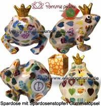 Spardose Spartier Frosch Max weiß Keramik Marke Pomme Pidou Maße ca.: L= 18 cm - Bild vergrößern