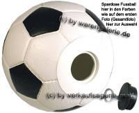 Fußball Spardosen Gesamt Spardose Variante wählen mit Spardosenschloss Maße ca.: D= 15,5 cm - Bild vergrößern