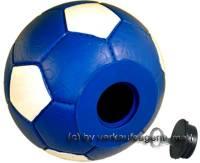Spardose Fußball blau/ weiß mit Spardosenschloss und Spardosenschlüssel Maße ca.: Ø= 15,5 cm - Bild vergrößern