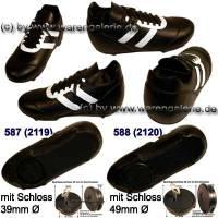 Fußballschuh schwarz/ weiß Spardose mit Spardosenschloss- Variante auswählen Maße ca.: L= 17 cm - Bild vergrößern