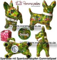 Spardose Spartier Hund Bommer hellgrün Keramik Marke Pomme Pidou Maße ca.: L= 17,5 cm - Bild vergrößern
