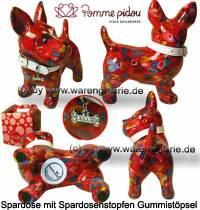 Spardose Spartier Hund Bommer rot Keramik Marke Pomme Pidou Maße ca.: L= 17,5 cm - Bild vergrößern