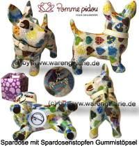 Spardose Spartier Hund Bommer weiß Keramik Marke Pomme Pidou Maße ca.: L= 17,5 cm - Bild vergrößern