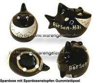 Spardose Spartier 3D Design Börsen-Hai Keramik Marke KCG Maße ca.: L= 14,5 cm - Bild vergrößern