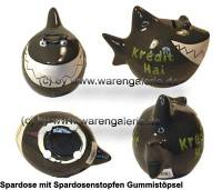 Spardose Spartier 3D Design Kredit Hai Keramik Marke KCG Maße ca.: L= 14,5 cm  - Bild vergrößern