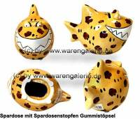 Spardose Spartier Design Leoparden-Hai Keramik Marke KCG Maße ca.: L= 14,5 cm - Bild vergrößern