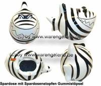 Spardose Spartier Design Zebra-Hai Keramik Marke KCG Maße ca.: L= 14,5 cm - Bild vergrößern