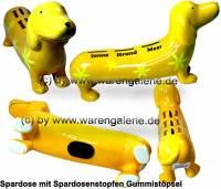 Spardose Spardackel gelb - Sonne - Strand - Meer - Keramik Marke KCG Maße ca.: L= 29 cm - Bild vergrößern