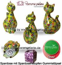 Spardose Spartier Katze Caramel hellgrün Keramik Marke Pomme Pidou Maße ca.: H= 22 cm - Bild vergrößern