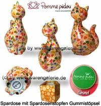 Spardose Spartier Katze Caramel rosa Keramik Marke Pomme Pidou Maße ca.: H= 22 cm - Bild vergrößern