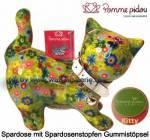 Spardose Spartier Katze Kitty hellgrün Keramik Marke Pomme Pidou Maße ca.: L= 19 cm