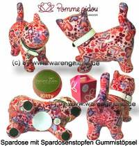 Spardose Spartier Katze Kitty rosa Keramik Marke Pomme Pidou Maße ca.: L= 19 cm - Bild vergrößern