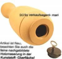 Spardose Kegel beige Kegelspardose mit Spardosenschloss und Spardosenschlüssel Maße ca.: H= 33 cm - Bild vergrößern