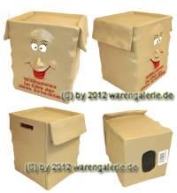 Spardose Willkommen im Club der alten Schachteln 3D Aufschrift mit Gummistopfen Maße ca.: H= 12 cm - Bild vergrößern
