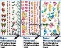 Porzellansticker 3-D-Sticker mit Dekor Motiv 1 Safuri Dekorvariante selbst auswählen - Bild vergrößern